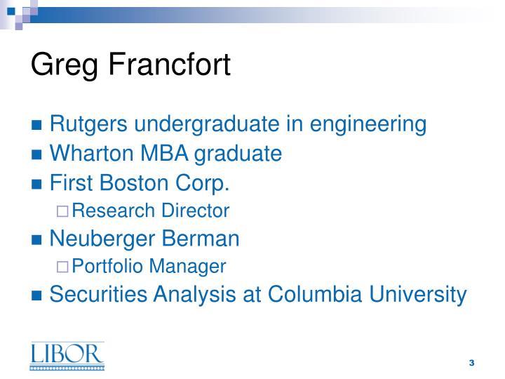 Greg francfort