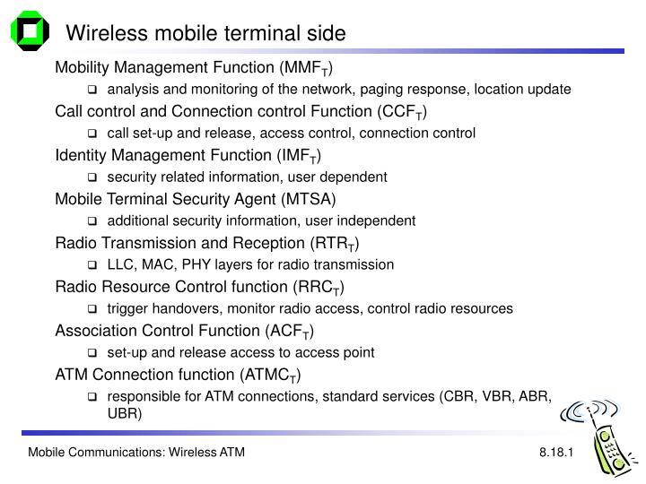 Wireless mobile terminal side