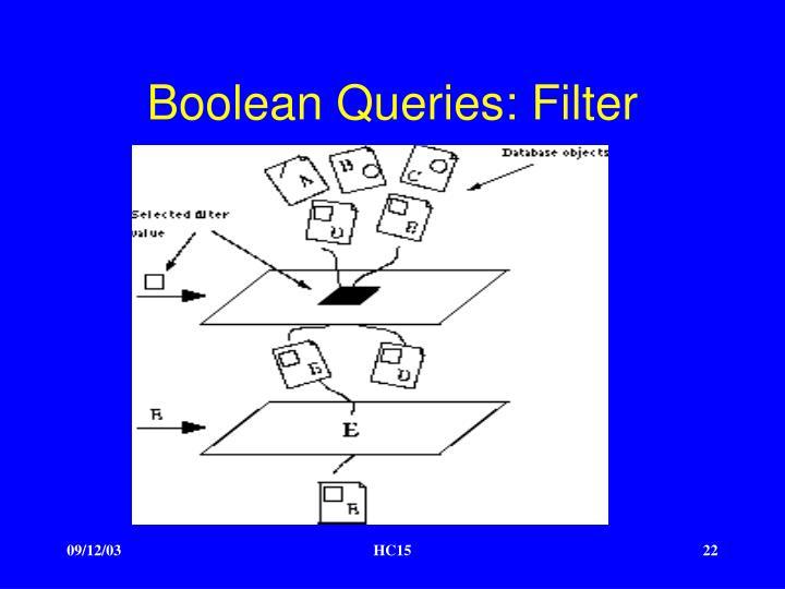 Boolean Queries: Filter