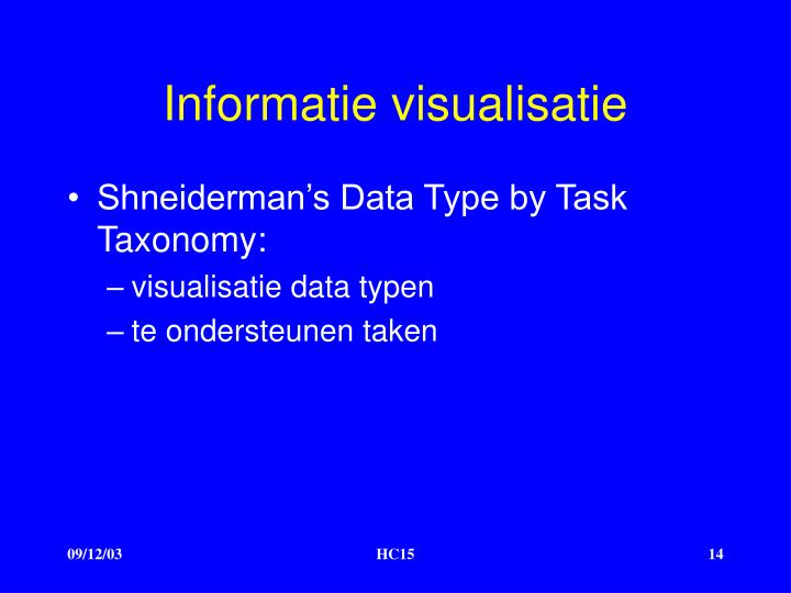 Informatie visualisatie