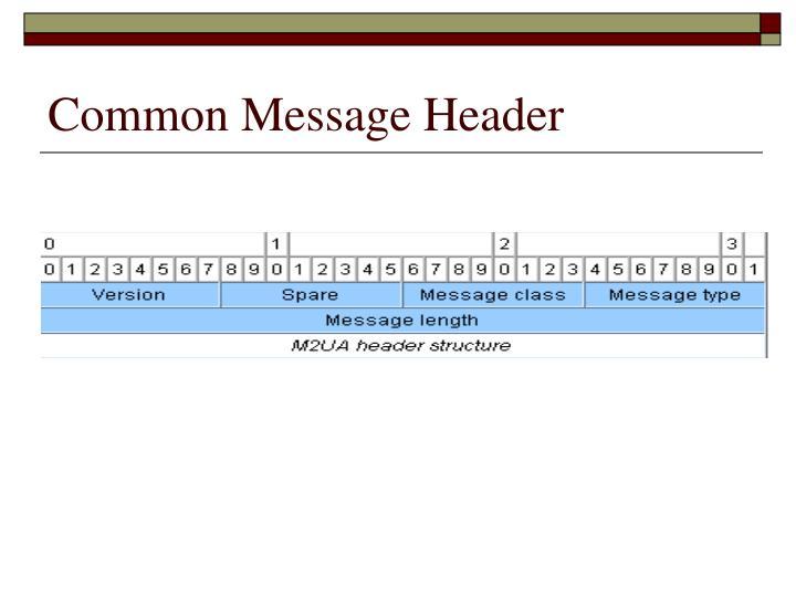 Common Message Header