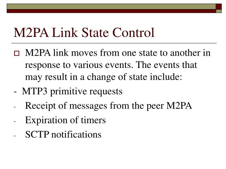 M2PA Link State Control