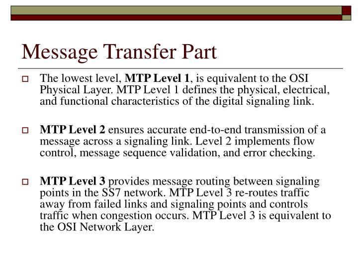 Message Transfer Part