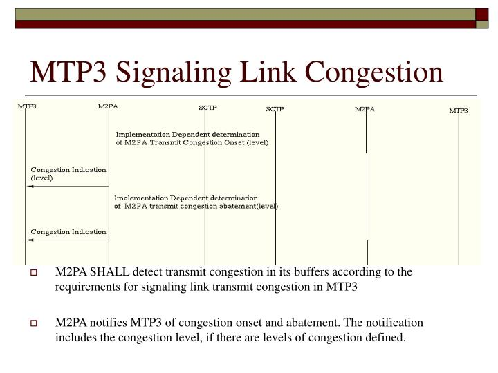 MTP3 Signaling Link Congestion