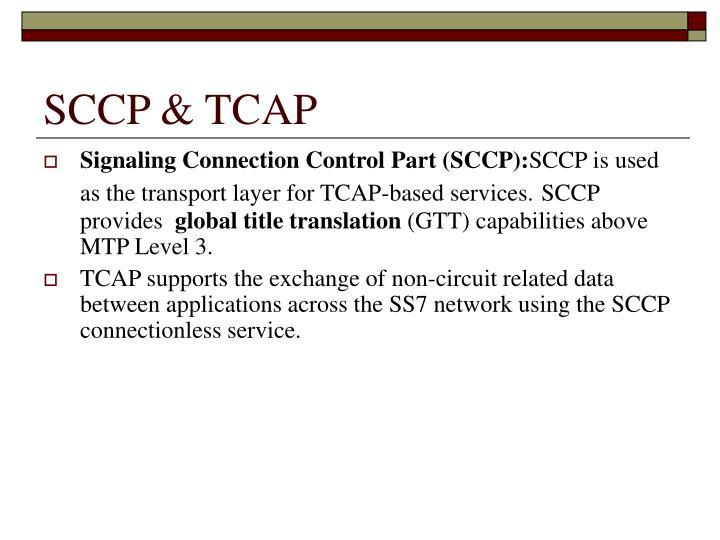 SCCP & TCAP