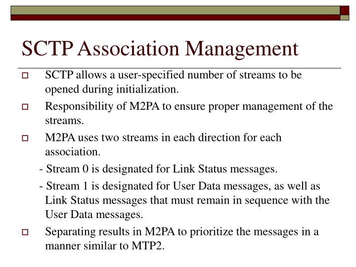 SCTP Association Management