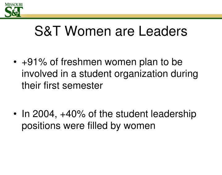 S&T Women are Leaders