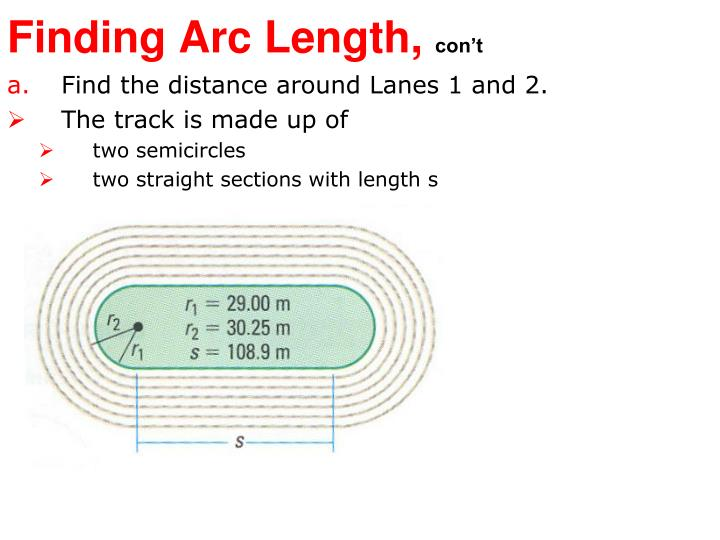 Find the distance around Lanes 1 and 2.