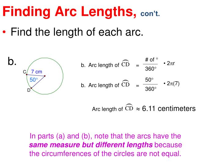Finding Arc Lengths,
