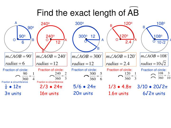 Find the exact length of AB