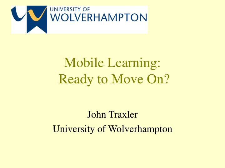 mobile learning ready to move on n.