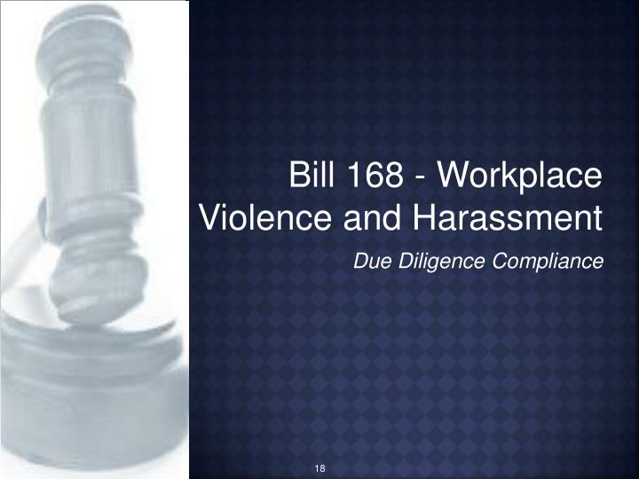 Bill 168 - Workplace Violence and Harassment