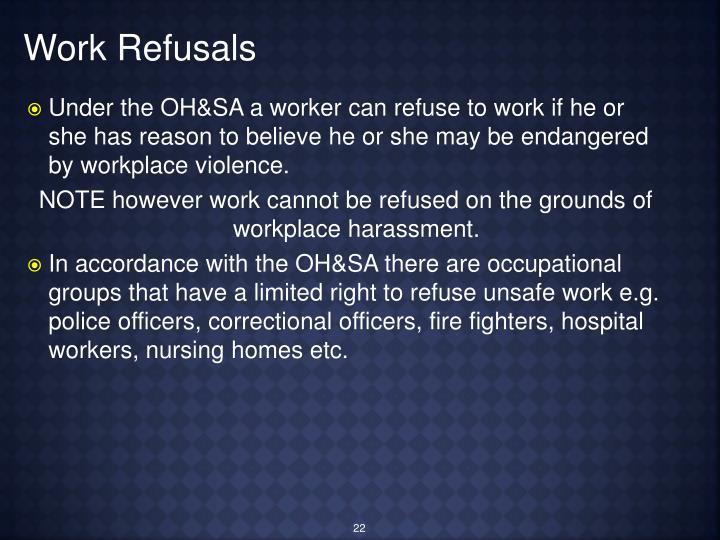 Work Refusals