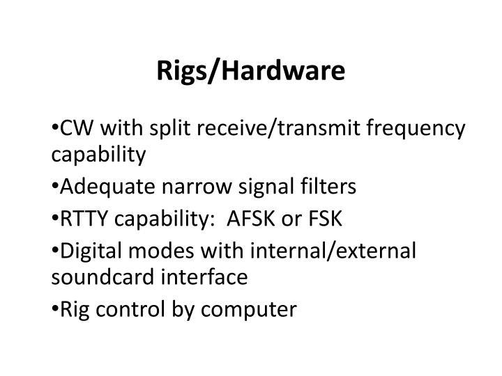 Rigs/Hardware