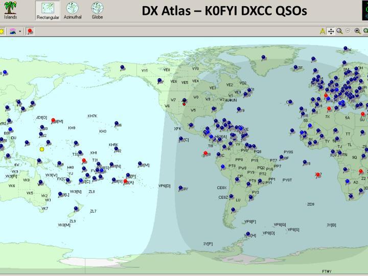 DX Atlas – K0FYI DXCC QSOs