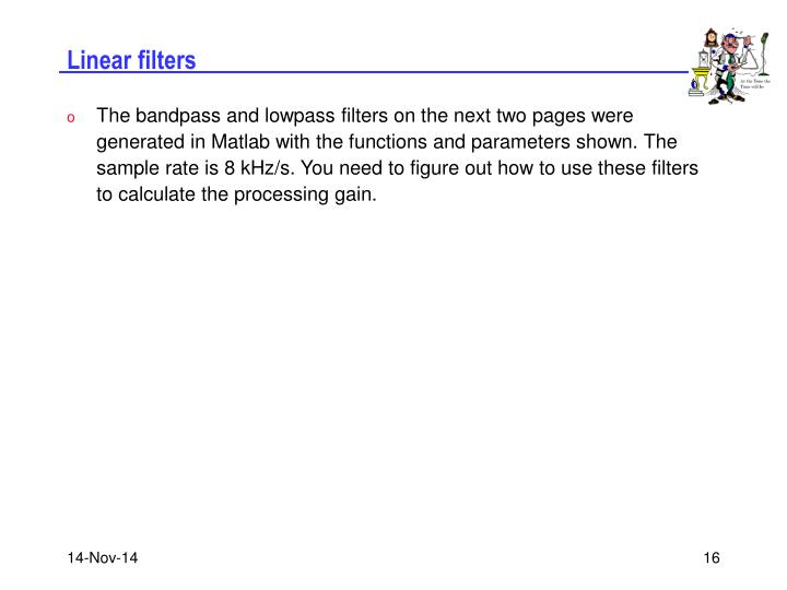 Linear filters