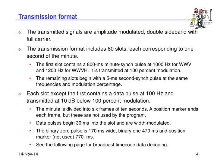 Transmission format