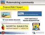rulemaking comments