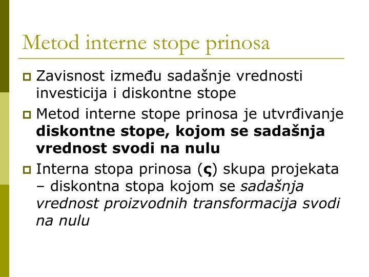Metod interne stope prinosa