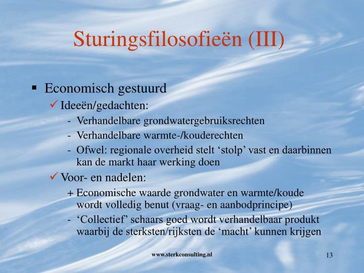 Sturingsfilosofieën (III)
