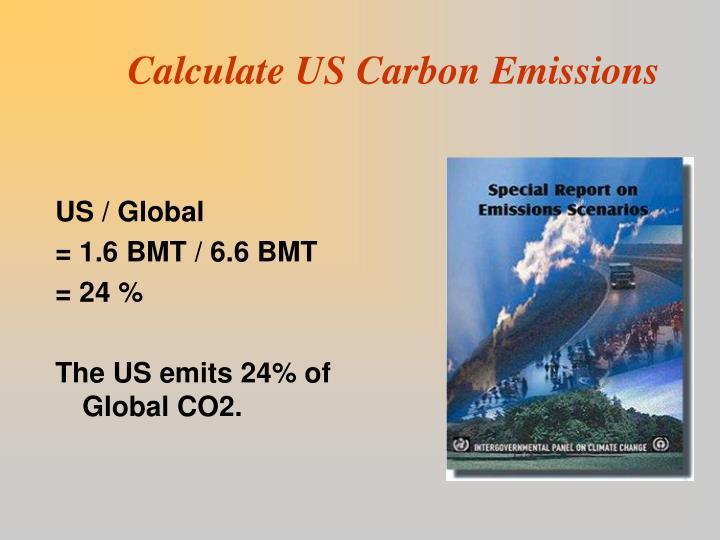Calculate US Carbon Emissions