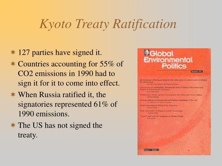 Kyoto Treaty Ratification