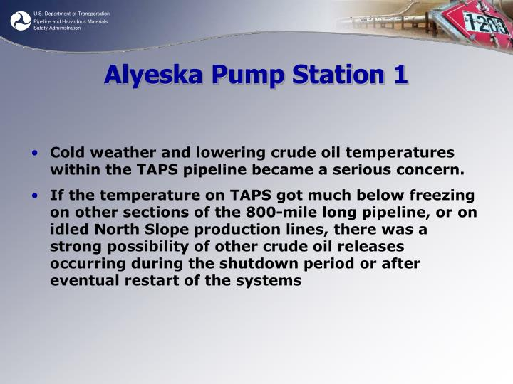 Alyeska Pump Station 1