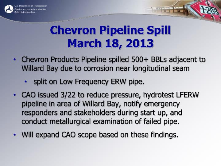 Chevron Pipeline Spill