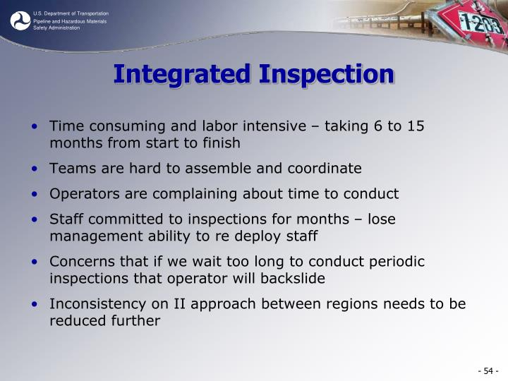 Integrated Inspection