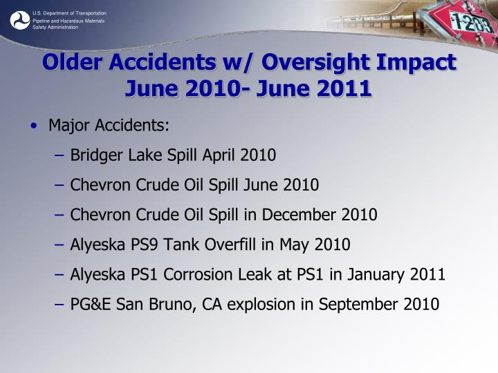 Older Accidents w/ Oversight Impact