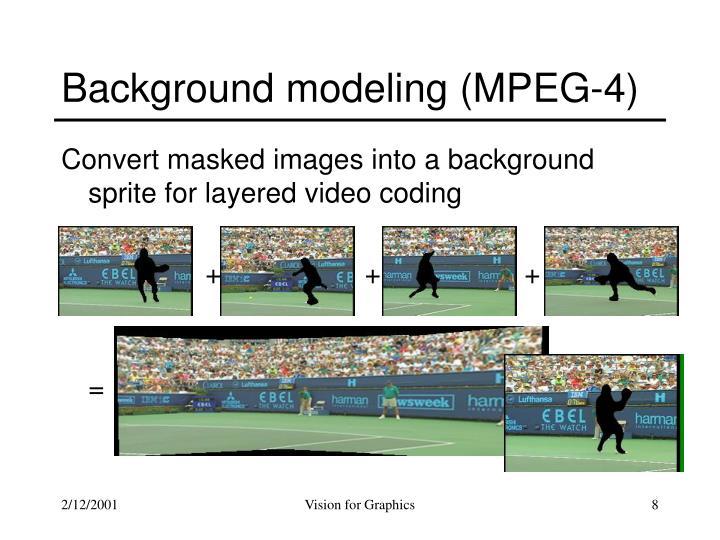 Background modeling (MPEG-4)