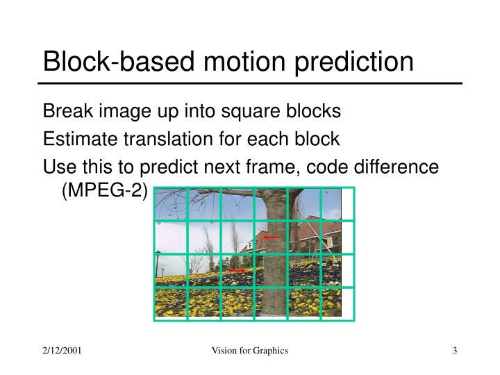 Block based motion prediction