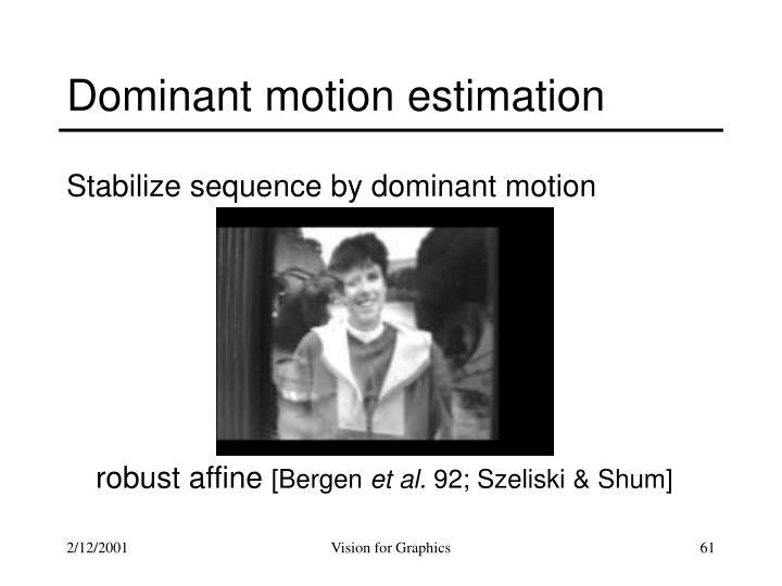 Dominant motion estimation