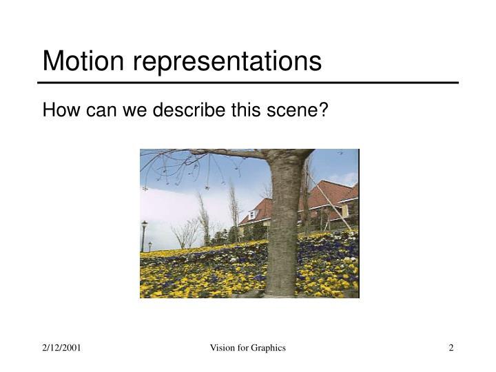 Motion representations