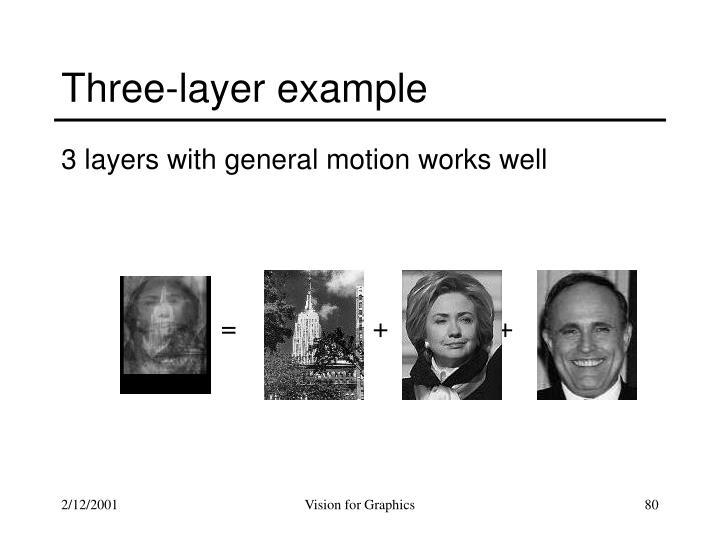 Three-layer example