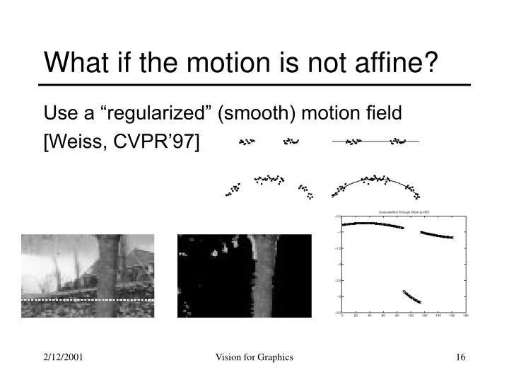What if the motion is not affine?