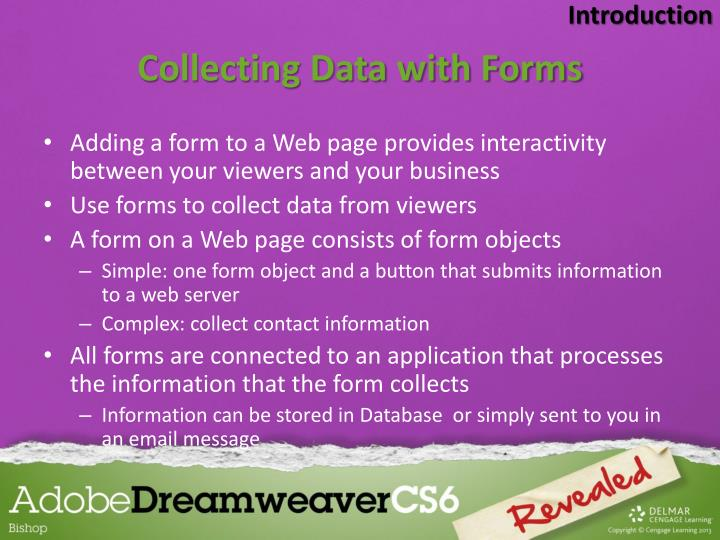 Collecting data with forms