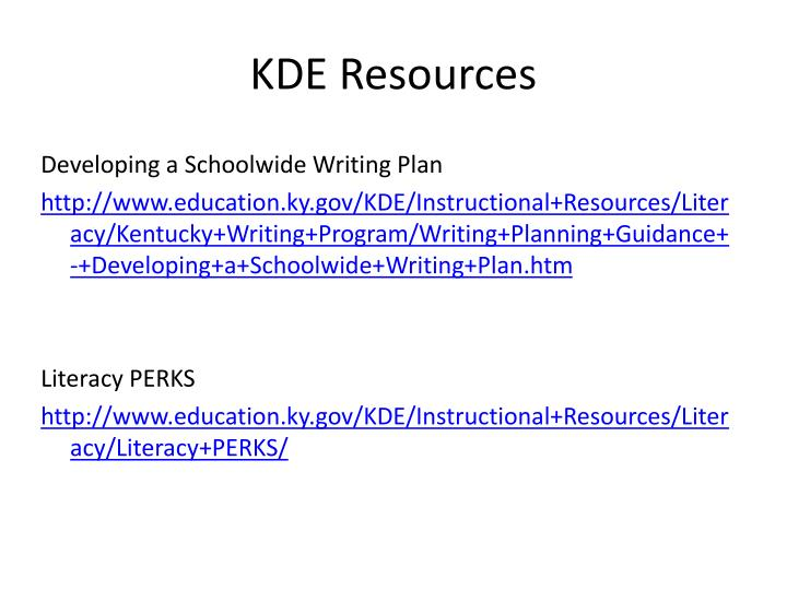 KDE Resources