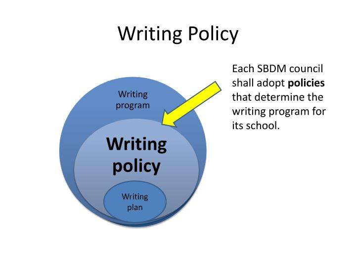 Writing Policy