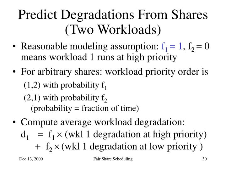 Predict Degradations From Shares