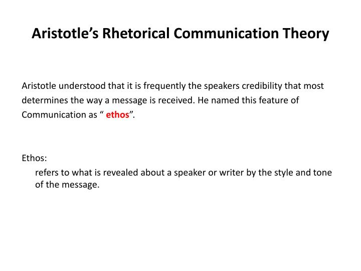 Aristotle's Rhetorical Communication Theory