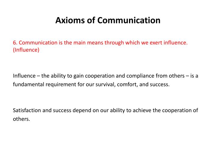 Axioms of Communication