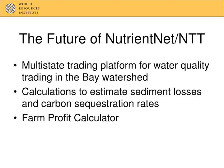 The future of nutrientnet ntt