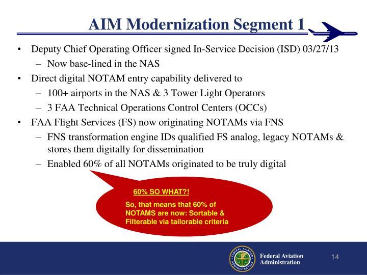 AIM Modernization Segment 1