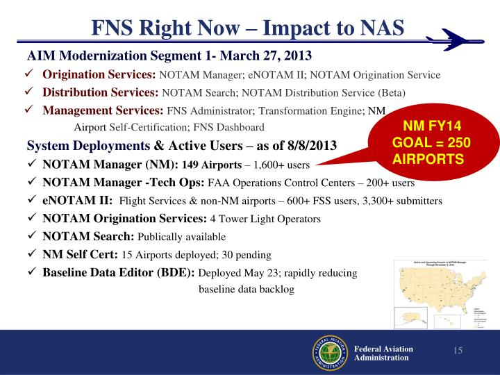 FNS Right Now – Impact to NAS