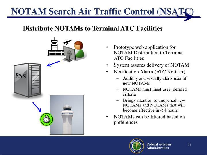 NOTAM Search Air Traffic Control (NSATC)