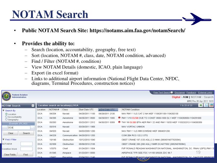 NOTAM Search