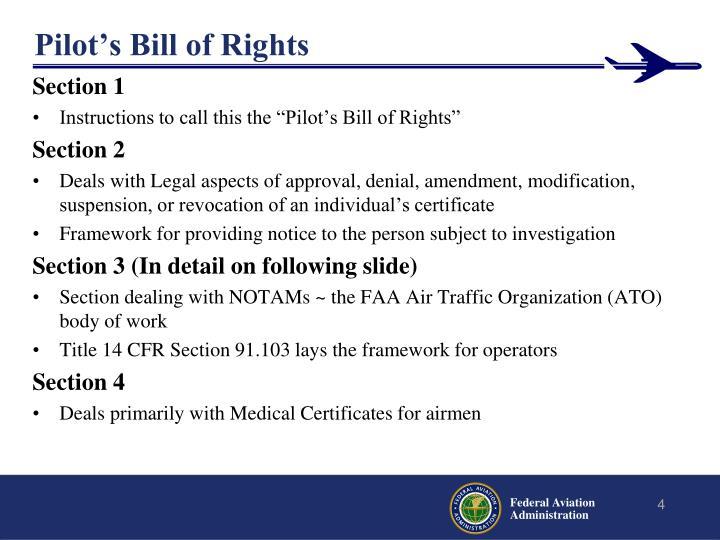 Pilot's Bill of Rights