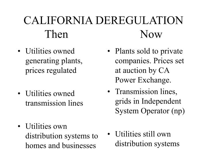 Utilities owned generating plants, prices regulated