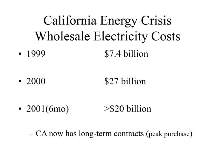 California Energy Crisis